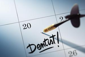 Dental appointment in calendar