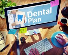 Dental Plan Text on a Monitor